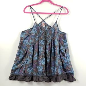 Fre Tops - Free People Medium floral Camisole with pockets